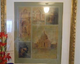 Large lithograph by Armand of Venice                             Medium:  SERIGRAPH                Unframed Size:  38X30