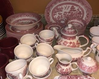 "Churchill ""Red Willow"" dishware"