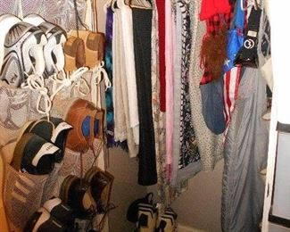 men's shoes, linens, scarves, misc.