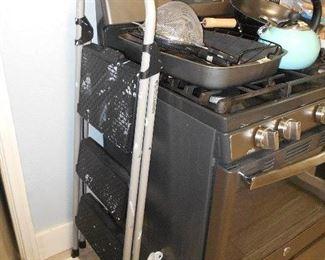 ladder, roasting pan, tea kettle, etc.