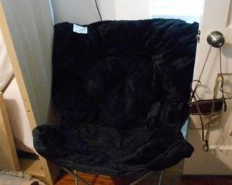 fluffy fold up chair