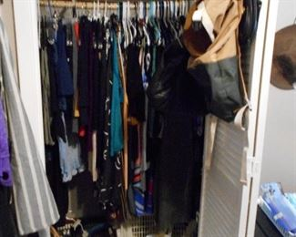 ladies clothing, handbags, etc.