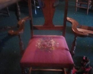 Hostess chair with needlepoint seats from 1930