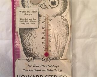 Thermometer advertising- Howard Seed Company Calhoun KY