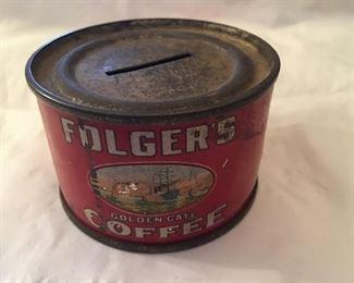 Folgers coffee advertising bank