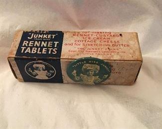 Advertising Junket Rennet Tablets