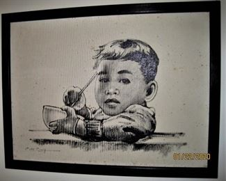 Original Painting on Canvas by C H Tang