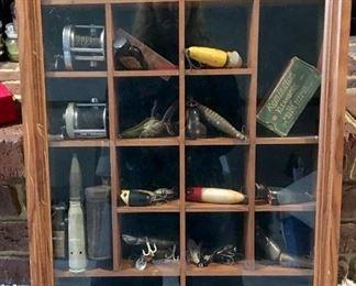 Vintage fishing lures, reels & more