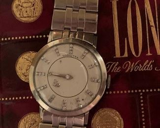 Longines 14K Solid Gold Diamond Mystery Dial with 14K Watch Band
