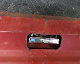 Large 1960's/1970's Ford Red Pick-up Truck Tailgate