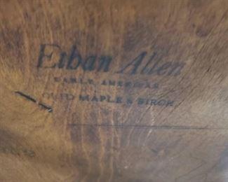 (3) Ethan Allen Solid Maple & Birch Heavy Tavern Captains Chairs