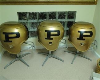 RARE Purdue University football helmet bar seats