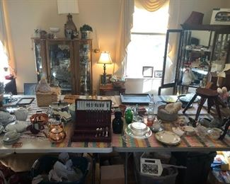 Tables full of vintage finds