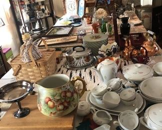 Tables full of vintage finds