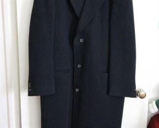 Mens nice long black coat