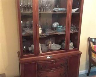 1940s mahogany china cabinet