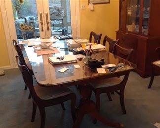 1940 mahogany table and chairs