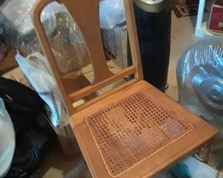 Chair with cane seat