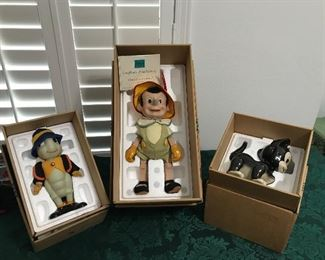 Pinocchio collector figurines with Certificates of Authenticity