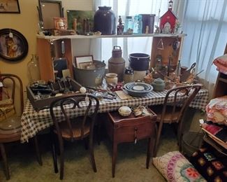 House is filled with great antiques & vintage.