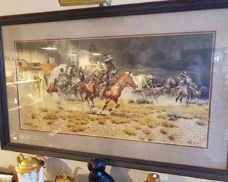 """Signed Frank McCarthy Litho """"Spooked"""""""