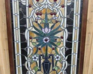 Framed Stain Glass Window