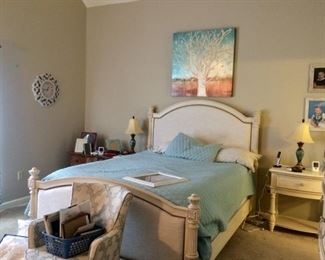 Brittany upholstered Queen bed  matching nightstand