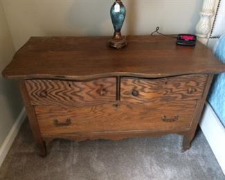 chest with one large drawer and two small