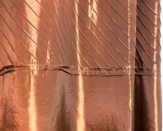 Copper color silk lined curtains