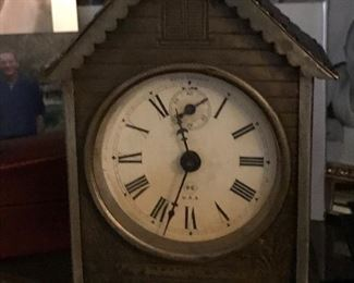 Vintage metal Seth Thomas clock