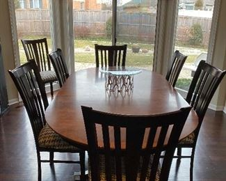 """Canadel Kitchen Table with 8 chairs 84"""" x 44"""" Buy It NOW $800"""