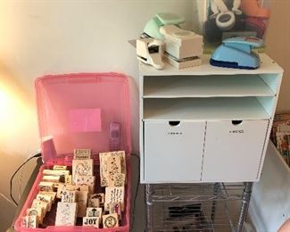 Drawers of stamps and paper stock
