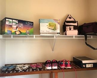 We have many like new shoes and clothing