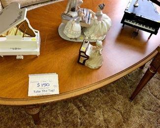 Henredon oval coffee table