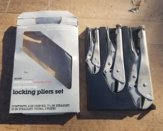 set of Craftsman locking pliers