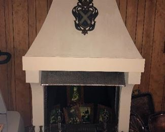 THIS WHOLE FIREPLACE IS COMES APART AND IS FOR SALE.  BRING MUSCLE!