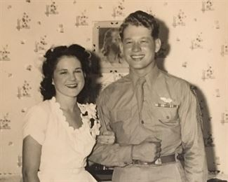 Leroy and Dot ,Wedding Day 1945,a  gorgeous couple