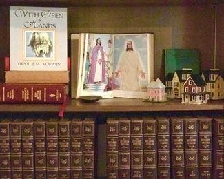 delicate wooden miniature houses, Encyclopedia Americana