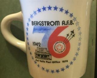 commemorative 1976 Bergstrom Air Force Base mug