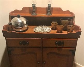 Ethan Allen side board with lined silver drawer
