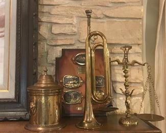 Leroys bugle , brass caddy, scales