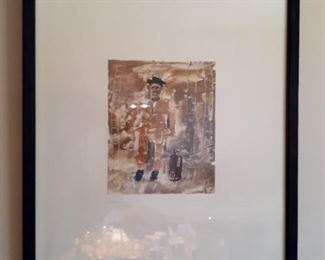 "Ignacio Iturria, ""Emigrante"", 2000. Monoprint. One of four. Paper approximately 17"" by 20.5"" Outside of frame approximately 20.5"" by 24"". This item is available for pre-sale and is being advertised on other sites. Please contact for price. Local pickup only."
