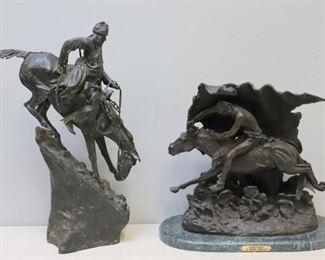 After Remington Bronze Sculptures