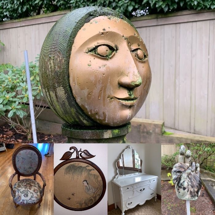 Collection of Art, Antiques,  Craft Supplies and Found Objects- A super fun estate sale with something for everyone.