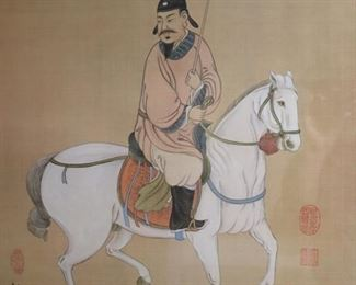 B Chan Signed Print Of A Warrior