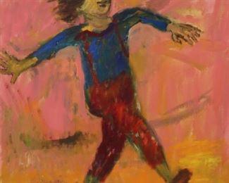 Alexander Dobkin Signed Oil On Canvas