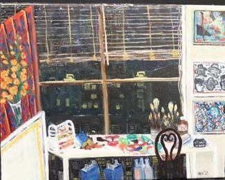 Belle Doris Herzog Initialed Oil On Canvas