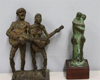 Bronze Sculptures Signed Gach The Other
