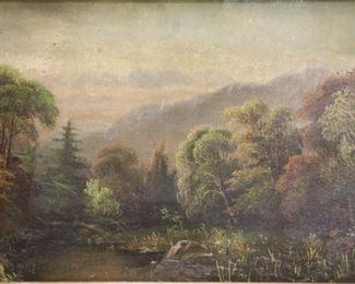 DCC Signed Oil On Canvas Landscape