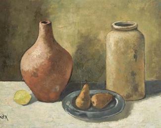 Doner Signed Oil On Canvas Still Life